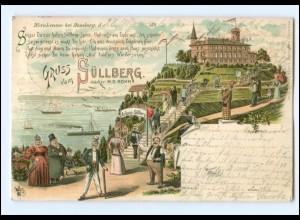 U7718/ Hamburg Blankenese Süllberg 1896 Litho AK
