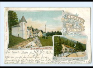 U7767/ Gruß aus Fernpass Gasthof a Fern AK Tirol 1903