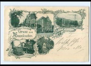 U7760/ Gruß aus Neumünster mit Simon`s Tuchfabrik AK 1898