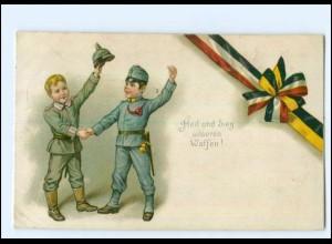 Y13144/ Kinder in Uniform 1. Weltkrieg Patriotik Litho AK 1915