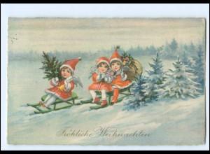 Y13124/ Weihnachten Engel bringen Geschenke AK 1929