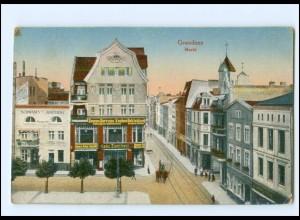 U7700/ Graudenz Markt Westpreußen AK 1918