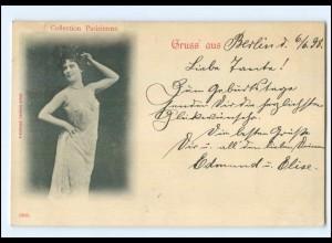 Y13159/ Collection Parisienne AK junge Frau, Künstlerin 1898
