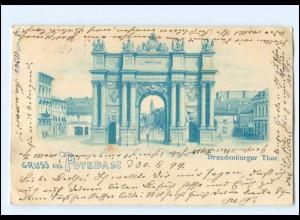 U7643/ Gruß aus Potsdam Brandenburger Tor AK Litho 1899