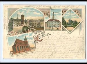 U7622-030/ Gruß aus Cottbus Litho Ak 1899