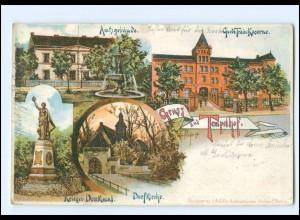U7684/ Berlin Gruß aus Tempelhof Garde Train-Kaserne , Amtsgebäude AK 1907