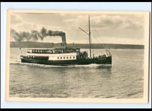 Y13121/ Dampfer Alexandra Flensburger Förde Foto AK ca.1955