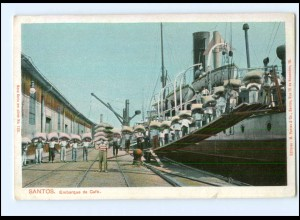 XX005303/ Santos Embarque de Cafe Kaffee-Verladung Hafen Brasilien AK ca.1912