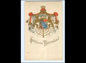 XX005304/ Wappen Gruß aus Bayernland Prägedruck ca.1900