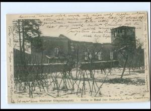 XX005326/ Kirche in Amel vor Veerdun Frankreich 1. Weltkrieg 1915