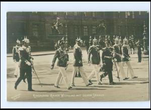Y13343/ Kirchgang Kaiser Wilhelm und Söhne Foto AK Rotophot Berlin ca.1905