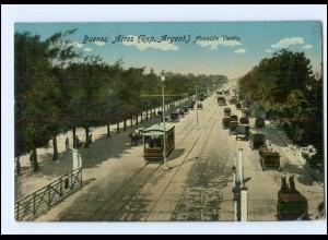U7782/ Buenos Aires Avenida Vertiz Tram Straßenbahn Argentinien AK 1915