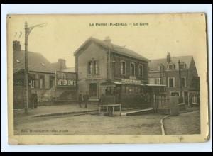 Y13727/ La Portel La Gare Bahnhof Straßenbahn Tram AK ca.1912 Frankreich