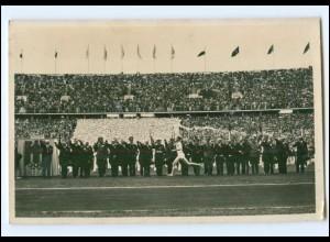 V1158/ Olympiade 1936 Fackelläufer Foto AK Berlin