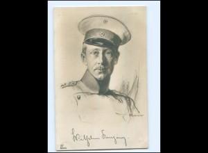 Y13347/ Kronprinz Wilhelm Foto AK ca.1915 1. Weltkrieg sign: Rumpf
