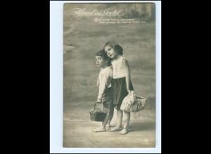 Y13259/ Hänsel und Gretel Märchen Foto AK 1914 Kinder