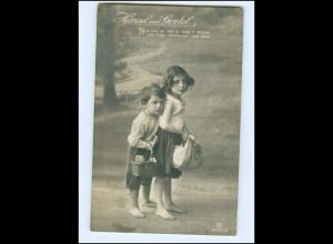 Y13260/ Hänsel und Gretel Märchen Foto AK 1914 Kinder