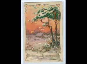 S2263/ Weihnachten Halt ggen Licht Litho AK 1905