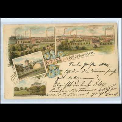 U8319/ Gruß aus Oberhausen Litho AK 1898