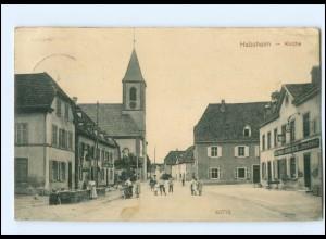 U7860/ Habsheim Elsaß Kirche AK 1915