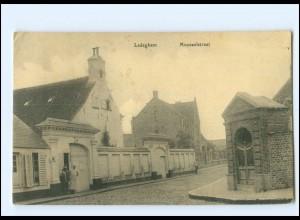U7917/ Ledeghem Mooseelstraat Belgien AK 1917
