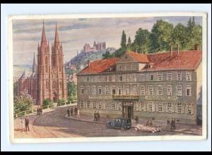 U7929-3550/ Marburg Hotel Europäischer Hof AK 1927