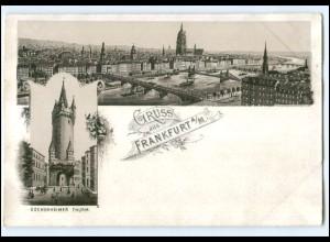 Y13370/ Gruß aus Frankfurt M. Litho Ak ca.1895