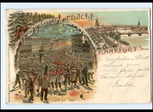 Y13386/ Frankfurt M. Sylvester Litho Ak 1899