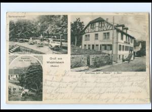 U8956-6903/ Waldhilsbach (Baden) Gasthaus zum Rössle AK 1913