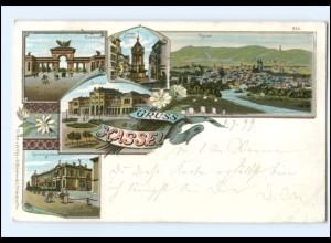 Y13382/ Gruß aus Kassel Litho AK 1899