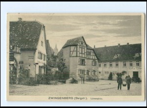 U8021-6144/ Zwingenberg Bergstr. Löwenplatz AK 1922