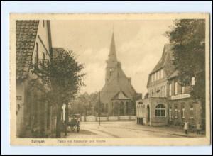 U8084-2838/ Sulingen Ratskeller und Kirche AK 1917