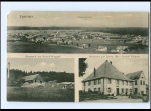 U8095-7951/ Tannheim Sägewerk Riegger , Gasthaus zur Sonne AK 1918