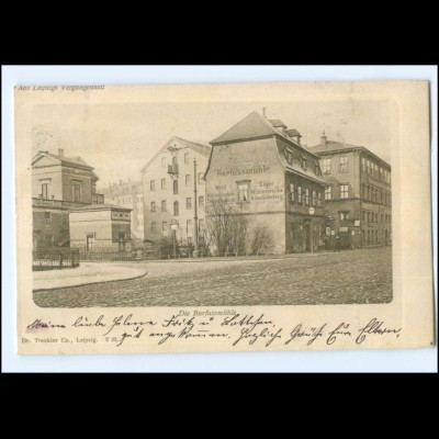 Y13395/ Leipzig Die Barfussmühle AK 1900 Aus Leipzigs Vergangenheit