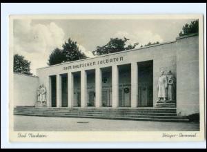 U8060-6350/ Bad Nauheim Krieger-Denkmal AK 1939