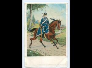 Y14494/ Husar zu Pferde Litho Ak 1909 Militär
