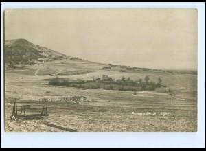 Y13437/ 1. Weltkrieg Foto AK Schmiedecke Lager 1918 WK1
