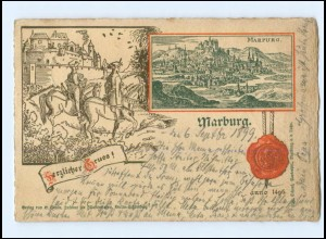 U8154-3550/ Marburg ann 1496 AK 1899
