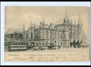 XX005472/ Hildesheim Bahnhof Straßenbahn AK 1906