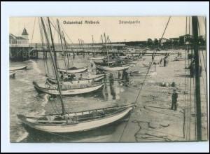 XX005546-174/ Seebad Ahlbeck Segelboote AK 1909
