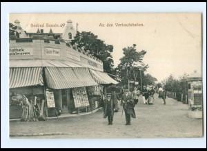 XX005553-174/ Seebad Bansin An den Verkaufshallen AK ca.1910 Litfaßsäule