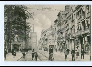 XX005712/ Rostock Blücherplatz Kröpeliner Str. AK 1912