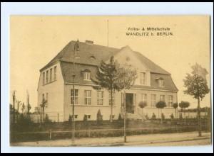 XX005697-163/ Wandlitz bei Berlin Volks- und Mittelschule AK 1916