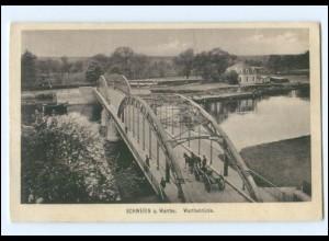 XX005694/ Schwerin a. Warthe Warthebrücke AK 1915