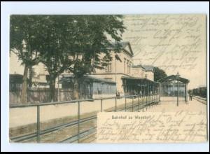 XX005693-3050/ Wunstorf Bahnhof AK 1903