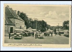 XX005675/ Grenze Zoll Kupfermühle bei Flensburg AK Autos Omnibusse 1940