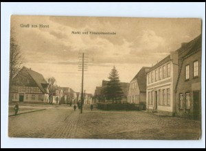 XX005756-2203/ Horst Markt und Elmshornerstraße AK ca.1925