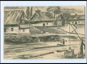 Y13454/ Sapplotow Dorfstr. Galizien Ukraine AK 1915 1. Weltkrieg