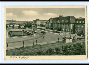 U8291/ Flensburg Reichsbahnhof Straßenbahn AK 1939