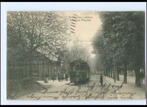 U8289/ Brüssel Laeken Avenue Meysse Tram Straßenbahn AK 1914